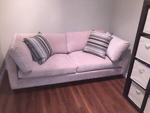 Beige Fabric Sofa/Couch - Like New used to stage Model Home