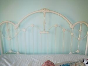 King Size Antique Metal Headboard