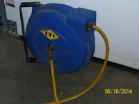 retractable air hose on reel