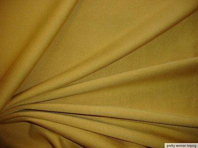0,5 Lfm Bündchenstoff 4,23€/m² Baumwolle Lycra gelbocker  (2)