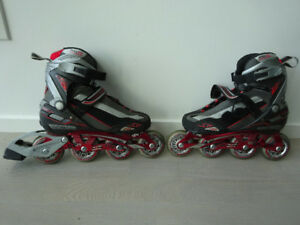 Roller Blades Black and red - 7.5US. Two other - 10US.