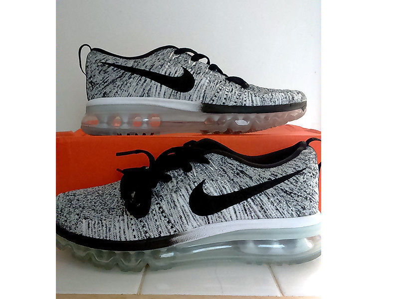Ladies Nike FLYKNIT Air Max Trainers Oreo 'Cookies & Cream' Size 5.5/ 6