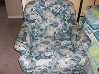 Blue Floral Chair/ Free
