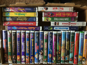 over 350 VHS childrens videos