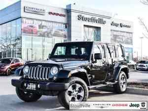 2016 Jeep Wrangler Unlimited Sahara, Only 11,800 KMS, Navi, Blue