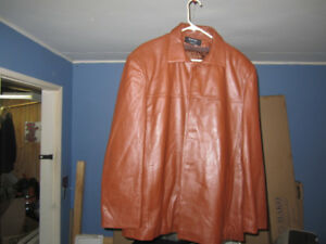 Men's Large Brown leather Jacket