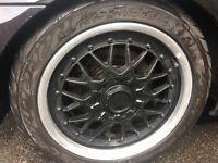 Bmw original bbs alloys wheels with tyres for sale 225/45/17 (e39 e46 e60 e36 320d 325i