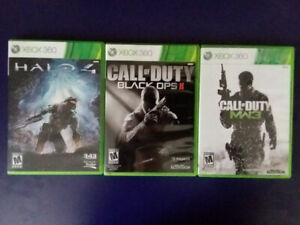 Halo 4, Call of Duty Black Ops II, Call of Duty Modern Warfare 3