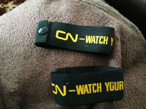 CN CNR Conductor Arm Bands, Pant Cuffs Watch Your Step Mint Cambridge Kitchener Area image 5