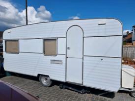 Vintage retro Touring caravan
