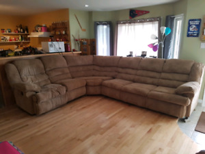 Three piece sectional with hide a bed for sale