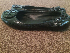 Wanted: Black Patent Tory Burch Flats