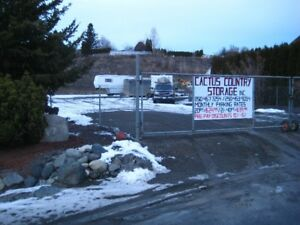 Gated RV / Boat / Vehicle Parking in Ashcroft B.C.