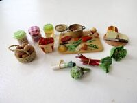Dolls house miniatures - selection of vars food 1/12th scale