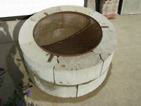 Brick Fire Pit with Grill