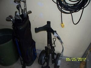 Wilson GE 1200 clubs with bag and cart