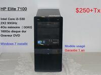 Ordinateurs  usagés Core i3  à partir de 250$