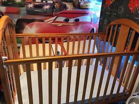 Mamas and papas cot with mattress