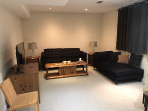 Fully equipped, newly renovated, furnished basement apartment