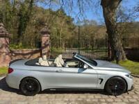 17 PLATE BMW 430d M SPORT CONVERTIBLE DIESEL AUTO 50,541 MILES M PERFORMANCE