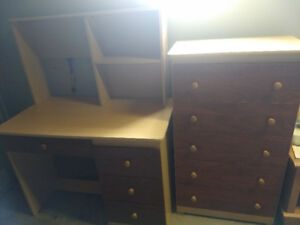 Matching computer desk and chest of drawers