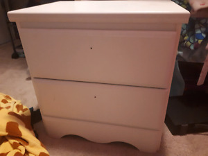 White Ashley furniture side table