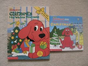 Clifford The Big Red Dog Hard Cover Christmas Books