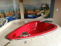 Heart Shaped Hot Tub with Waterfall Taps