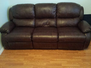 Leather recliner / couch