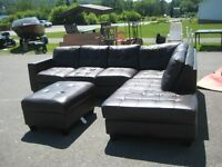 Bonded Leather Sectional with chaise