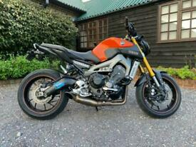 Yamaha MT09 Orange 2015 Low Mileage Immaculate Woolich Racing Race Tools Pack