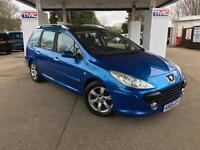 2006 Peugeot 307 SW 1.6 HDi SE 5dr ESTATE in BLUE