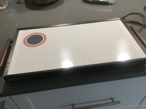 2 large rival electric heating trays - excellent condition.
