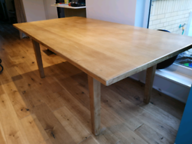 Large Solid Oak Dining Table - Farmhouse style, used for sale  Witney, Oxfordshire