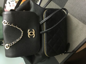 Chanel backpack real leather in excellent condition