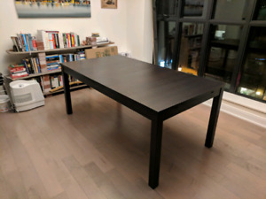 IKEA Bjursta Extendable Table black-brown BEST OFFER