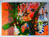 Original One of a kind Abstract Mixed Media Sound of Music