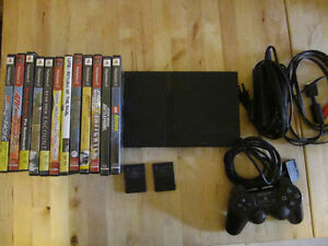 Play Station 2, Controller, 2 Memory Cards, 12 Games
