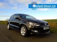 VOLKSWAGEN POLO 1.2 MATCH EDITION 3DR BLACK - ONLY 8K MILES! GREAT SPEC!