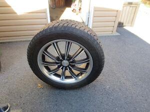 4 pneus d'hiver avec mag 235 55R18