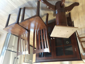 Table with 4 Chairs and China Cabinet