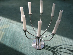 IKEA Candelabra Stainless Steel Candle Holder Used
