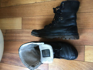 Palladium leather boots.