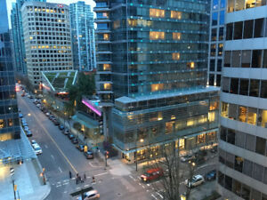 Furnished Spacious One Bedroom - Heart of Downtown Vancouver