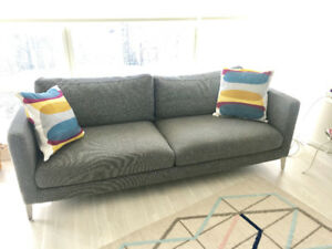 SEATER SOFA GREAT CONDITION -Structube-CARINE 3-Light Grey