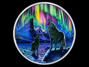 2016 $30 2oz Animals in the Moonlight: The Wolves Coin for sale