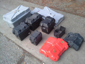 6 Battery boxes and lids