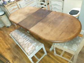 Extending dining table and chairs needs tlc
