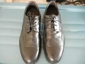 Black Leather Wing Tip shoes