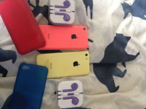 iPhone 5C Coral and Yellow 16GB Rogers